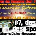 Sternernstaubastrologie 1:7 9/11 des Sports FIFA WM Halbfinale 2014