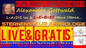Sternernstaubastrologie Pluto Uranus Quadrat 2014 2015 New Age Manipulation