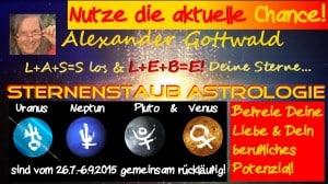 Uranus Neptun Pluto Venus rückläufig 2015 Befreie Liebe Beruf