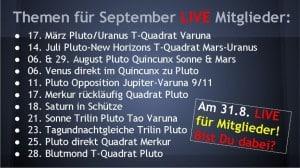 Themen für Horoskop September 2015 LIVE Konferenz