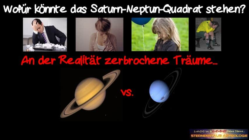 Horoskop November 2015 Saturn Neptun Quadrat Realität zerbrochene Träume