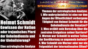 Horoskop Helmut Schmidt - Gewissen der Nation oder Trojanisches Pferd der Geheimdienste