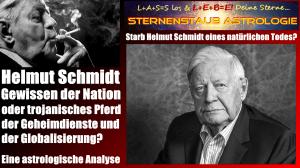 Horoskop Helmut Schmidt natürlicher Tod - Todeshoroskop