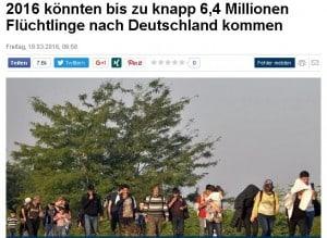 Focus 6 komma 4 Millionen Flüchtlinge