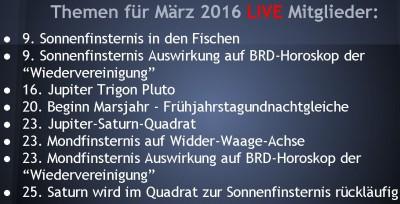 Mitglieder März 2016 Themen