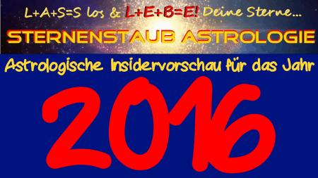 Astrologische Jahresvorschau 2016