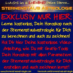 Sternenstaubastrologie Horoskop gratis
