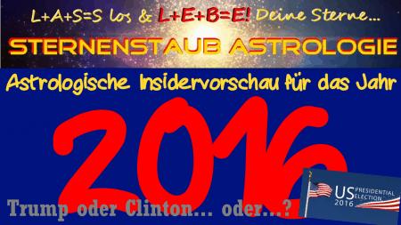 Astrologische Jahresvorschau 2016 US-Wahlen