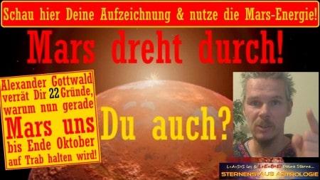 Mars dreht durch Horoskop August bis Oktober 2016