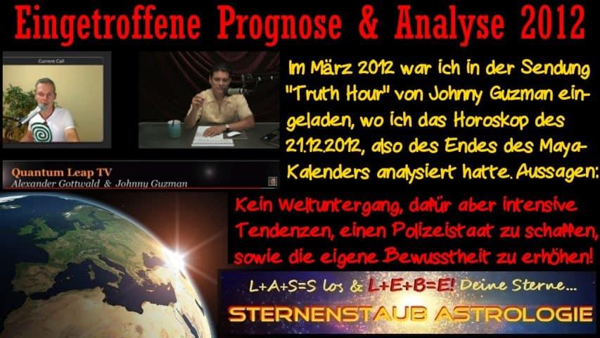 Erfüllte astrologische Prognosen 2012