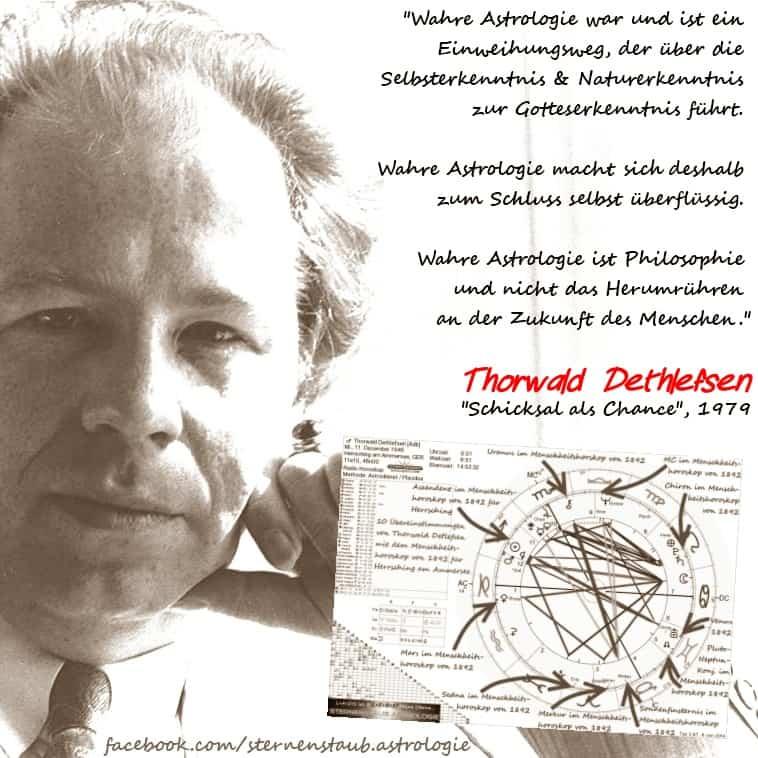 Thorwald Dethlefsen Astrologie als Einweihungsweg Zitat