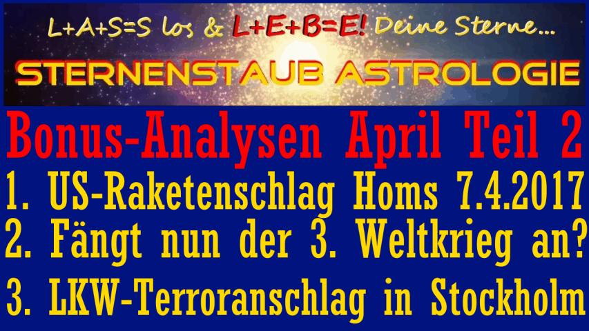 Astrologische Analyse YT Titel Bonus April 2017 Mitglieder Teil 2