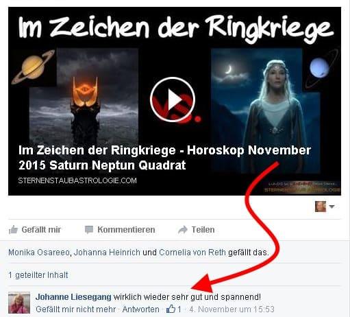 Johanne Liesegang Sternenstaubastrologie Konferenz Feedback FB