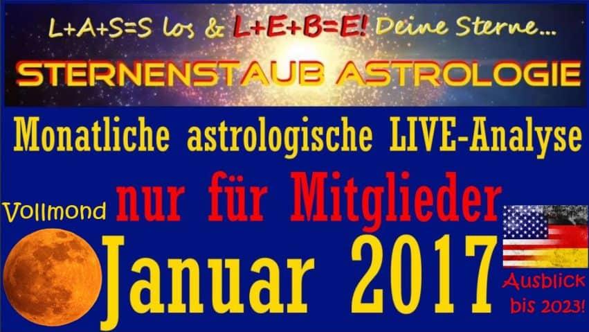 Monatliche Insideranalysen Astrologie Titel Vollmond Januar 2017
