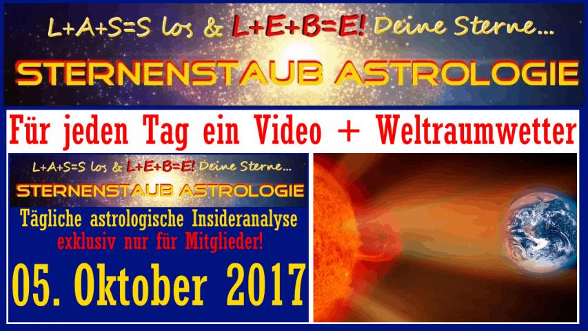 Sternenstaubastrologie Horoskopvideo + Weltraumwetter für jeden Tag