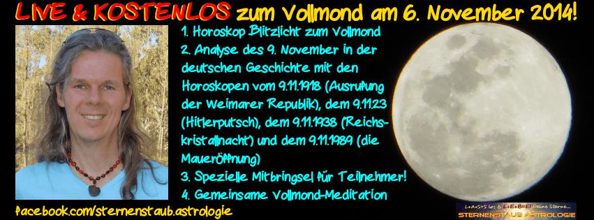 LIVE und kostenlos Alexander Gottwald Vollmond Meditation und 9. November Horoskope