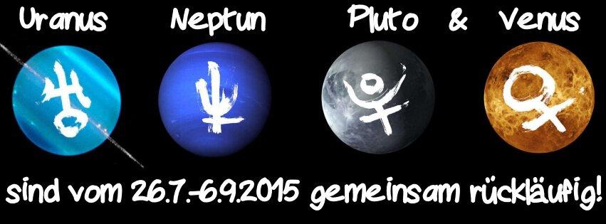 Uranus Neptun Pluto Venus rückläufig 2015