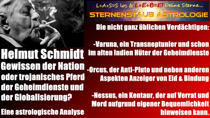 Horoskop Helmut Schmidt drei astrologische Verdächtige Varuna Orcus Nessus