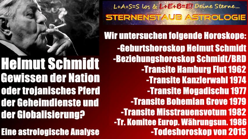 Horoskop Helmut Schmidt astrologisch analysierte Horoskope