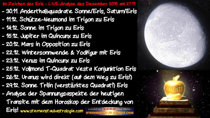 LIVE Analyse Horoskop Dezember 2015 Themen Im Zeichen der Eris