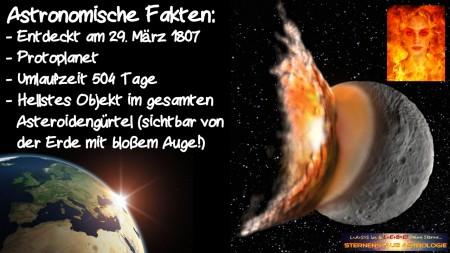 Im Zeichen der Vesta Astronomische Fakten