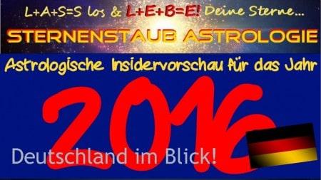 Astrologische Jahresvorschau 2016 Deutschland