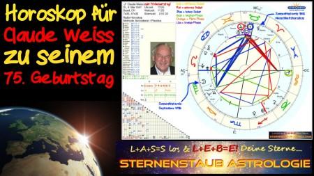 Horoskop Astrologe Claude Weiss 75. Geburtstag