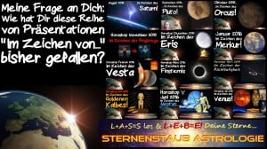 Im Zeichen der Venus Wie hat es Dir bisher gefallen