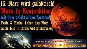 Mars dreht durch Mars galaktisches Zentrum
