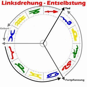 Linksdrehung Entselbstung im Horoskop