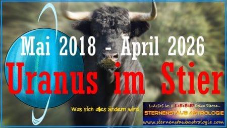 Horoskop Uranus Stier 2018-2026