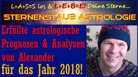 Eingetroffene astrologische Prognosen 2018