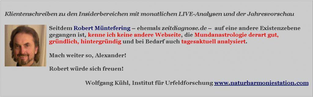 Referenz Wolfgang Kuehl