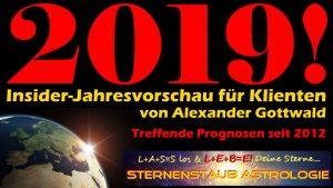 Sternenstaubastrologie astrologische Prognose 2019 Klienten