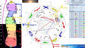 Horoskop Rajneesh rechtsdrehend Körpergrafik