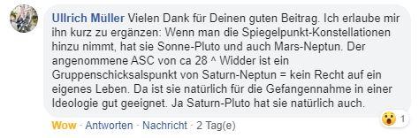 Horoskop Greta Thunberg Kommentar Ullrich Müller